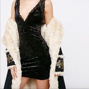 Free People Viper Velvet Bodycon Dress